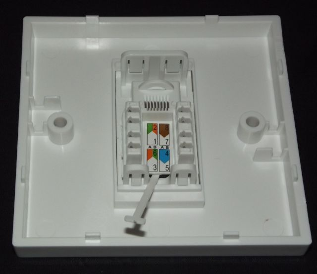 cat5e rj45 single face plate network ethernet data wall one if the item is damaged in some way either partially or completely then please send a message via asking for either a repair a replacement or a